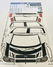 1/10 - 1/8 scale DECAL/STICKER SHEET -RC/MODEL CAR-Tamiya/hpi/decals/kit/ Scion