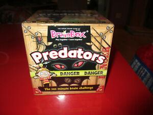 BrainBox Predators Educational Family Quiz Trivia Card Game,New & Sealed