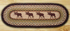 "Moose 100% Natural Braided Jute Runner Rug 13"" x 36"" Oval, by Earth Rugs"