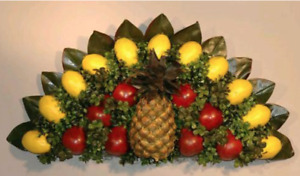 Williamsburg colonial stye over door/wall plaque base for fresh fruit decoration