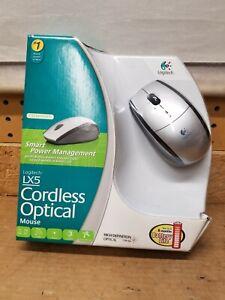 Logitech LX5 Cordless 3-Button Scroll Optical Mouse - Silver