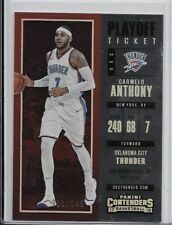 2017-18 Panini Contenders Playoff Ticket Carmelo Anthony #11/249