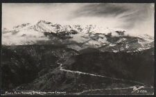 Postcard RPPC Pikes Peak Highway Starting From Cascade