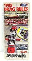 1985 NHRA Official Drag Racing Rules Competition Guidelines & Technical Handbook