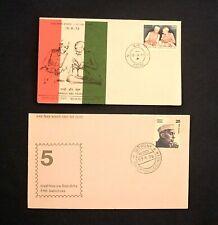 Two India FDC 'Gandhi & Nehru 1973/76'. Poona Postmarks