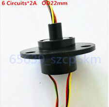 NEW 22mm  6 Wires 2A 6 Conductors Capsule Slip Ring 240V AC 300Rpm F Monitor