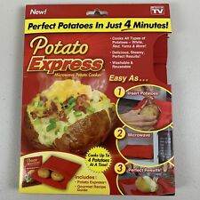 OnTel Potato Express Microwave Potato Cooker, Perfect Potatoes in 4 minutes NEW
