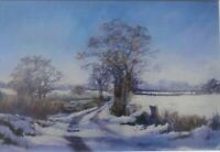 "Judy Mattin ""A SUFFOLK LANE IN WINTER"" Print Picture of East Anglia"