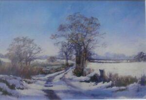 "Judy Mattin ""A SUFFOLK LANE IN WINTER"" Print Picture of East Anglia"