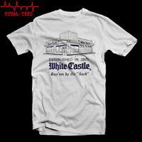 White Castle Hamburger est. 1921 Logo Men's White T-Shirt Size S-3XL