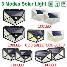 68/100 LED Solar Wandleuchte Bewegungsmelder Wasserdichte Lampe Outdoor Garden