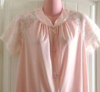 Vintage 1950's Vanity Fair Women's Pajamas 32 Nylon Tricot Soft Pink Lace
