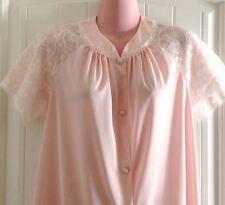 Vintage 1950's Vanity Fair Nylon Tricot Soft Pink Lace Pajama Set Size 32