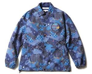 BILLIONAIRE BOYS CLUB FDMTL SPACE CAMO COACH JACKET - NAVY BLUE - RRP £395.00
