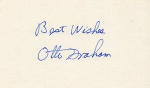 Otto Graham - NFL, Pro Football Hall of Famer - Autographed 3x5 Card