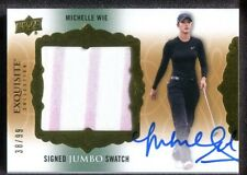 2014 Exquisite Collection Jumbo Swatch Autographs #SJSMW - Michelle Wie  38/99
