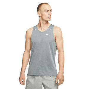 NWT Men's Nike Breathe Rise 365 Gray Large Running Tank Top MSRP $45