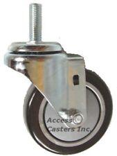 75STSNS-507 75MM Swivel Caster Twin Nylon Wheels 5//16-18 x 1 Threaded Stem