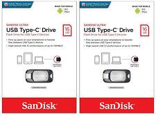 2x SanDisk Ultra 16GB USB 3.1 Type-C & PC 130MB/S Flash Pen Drive SDCZ450-016G