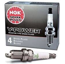 4 New NGK Premium V-Power Spark Plugs BKR6E FREE SHIPPING