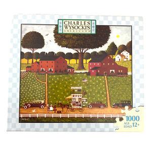 Charles Wysocki's Americana Jigsaw Puzzle Tinkle Toms 1000 piece 2007  Cars