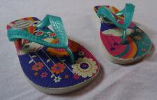 Tongs Havaianas pour filles, Multicolore + fleurs, pointure : 25-26
