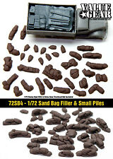 "1/72 Sand Bag ""Filler & Piles of sandbag"" - Value Gear War Gaming Dioramas"
