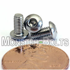 3mm x 0.50 x 6mm - Qty 50 - A2 Stainless Steel BUTTON HEAD Screws ISO 7380 M3