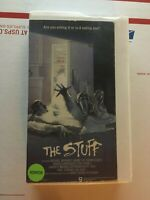 THE STUFF VHS(1985; 87m) CLAMSHELL ( ARE YOU EATING IT OR IS IT EATING YOU) RARE