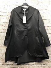Moonshine Fashion Lagenlook Mantel Halb Übergröße schwarz 44 46 48 Neu