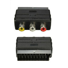 New RGB SCART Plug Male to 3 RCA Female A/V Adaptor Converter for TV DVD VCRs UK