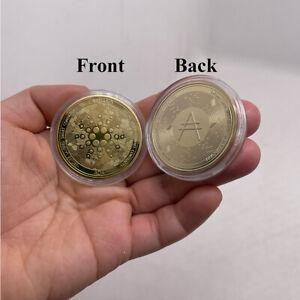 Gold Ada Cardano Crypto Coin Cryptocurrency Collectible Coin Art Collection Coin