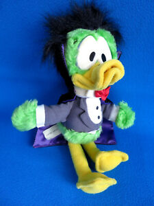 RARE! ORIGINAL COUNT DUCKULA green duck vampire SOFT TOY COSGROVE * VINTAGE 1988