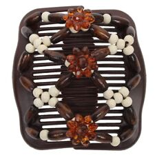 Trend African Hairclip Haarklammer Haargreifer Butterfly Holzdesign Weiß