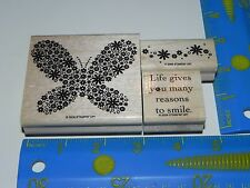 Stampin Up Reason to Smile Stamp Set of 3 Butterfly Floral Life gives you many