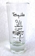 """Tall Shot Glass MILAGRO TEQUILA 100% Agave Shooter 4"""" Clear Glass Jigger"""