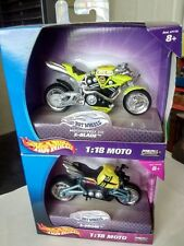 Hot Wheels 1:18 Moto 2003 X-Blade Twin & X-Drone Thumper DieCast Motorcycles MIB