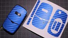 CARBON Blau Folie Dekor Schlüssel Audi A A3 S3 8L A4 S4 B5 B6 A2 A6 C5 TT 8N Key
