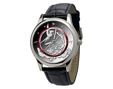 """Leder-Armbanduhr """"Tropische Zone"""" mit passendem Design zur neuesten 5-Euro-Münze"""