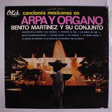 BENITO MARTINEZ: Canciones Mexicanas En Arpa Y Organo LP (Mexico, '69, some cov