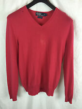 RALPH LAUREN 100% CASHMERE FUCHSIA PINK HOT SWEATER V-NECK S M L MEDIUM $399