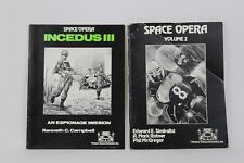 Two RPG Books Space Opera Incedus III Espionage Mission & Vol. 2 by FGU 1982
