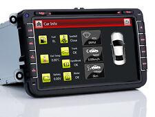 8 zoll HD Autoradio Navigator GPS DVD Für VW Tiguan Caddy Passat CC Touran Fabia