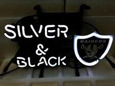 NFL OAKLAND RAIDERS HOME Beer Bar Pub Store Display GARAGE NEON Light Sign