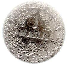 1 Mark 1876 A in ss (etwas bessere Erhaltung) - Jäger Nr. 9