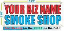 CUSTOM NAME SMOKE SHOP Banner Sign NEW Larger Size Best Quality for the $$$