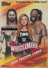 2020 Topps WWE Road WrestleMania Box of Packs with One GUARANTEED Relic Card Per