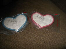 Vintage Plastic Heart Frames ~ Lot of 2 for Embroidery Cross Stitch ~ New in Pkg