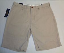 """Polo Ralph Lauren Size 34 34W CLASSIC FIT 9"""" Boating Khaki Shorts New Mens"""