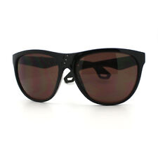 Womens Oversize Sunglasses Overlap Button Design Fashion Frame Black, Brown
